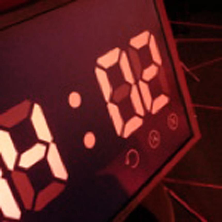 Digitalanzeige im Laser Maze Zeitlabyrinth